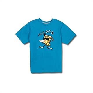 Little Boys Pizza Out Basic Fit Short Sleeve Tee