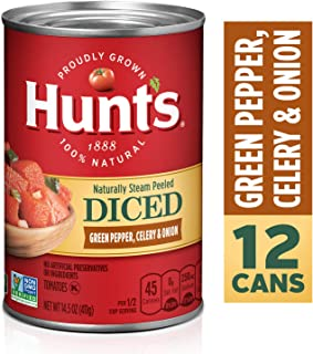 Hunt's Diced Tomatoes with Green Pepper, Celery & Onion, 14.5 oz, 12 Pack