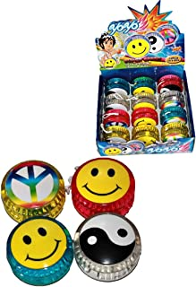 Yoyo Light Up 12 Bulk Pack for Kids Birthday Party Favours for Party Bags Boxes Christmas Stocking Fillers Pinata Fillers ...