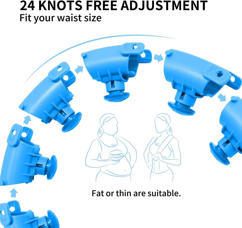 adelgazamiento y ejercicio r/ápido de cintura ni/ños principiantes masaje inteligente con peso para p/érdida de peso adecuado para adultos KCTM Hula Hoop ajustable para ejercicio de fitness j/óvenes