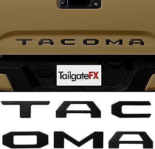 TACOMA 2016-2020 TAILGATE Insert/Emblem Raised Lettering 3D MATTE BLACK