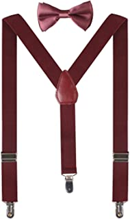 Boys' Suspenders and Bow Tie Set for Wedding Party Y Shape