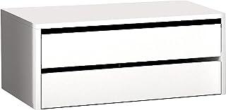 HomeSouth - Cajonera Armario Dos cajones Mueble Auxiliar Almacenamiento Dormitorio Modelo Lara Color Blanco Medidas: 7...