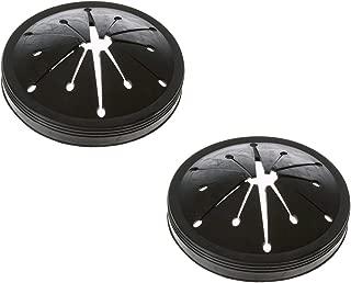 WC03X10010 Garbage Disposal Splash Guard for GE WC03X10010 Black Sink Drain Plugs Splash Guards (Pack of 2)