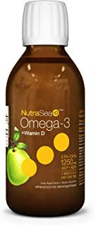 NUTRA SEA Omega 3 Fish Oil with D, 200 ML