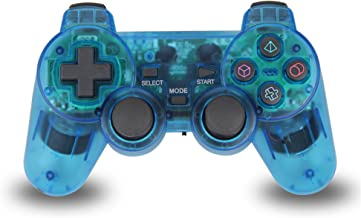 TPFOON Wireless PS2 Dual Vibration Controller for Sony Playstation 2 (Blue)