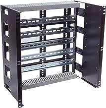 RCB1138BK15 Heavy Duty 10U Rackmount Industrial Din Rail Panel for EIA-310 19 inch 2 Post relay rack and 4 Post Server Rack