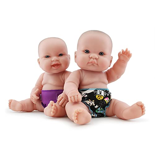 3 pack of doll diapers fits up to a 4 inch doll