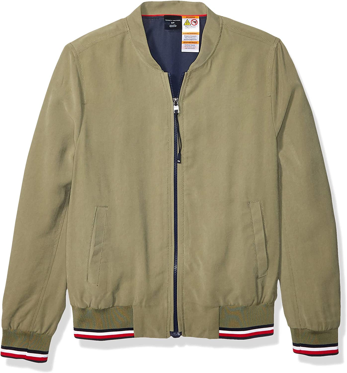 Tommy Hilfiger Women's Adaptive Bomber Jacket with Magnetic Zipper
