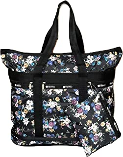LeSportsac Endless Fields Travel Tote + Matching Cosmetic Bag