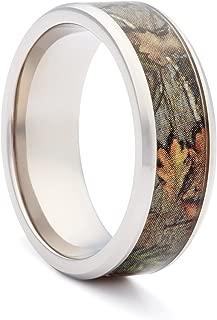 Camo Wedding Rings by #1 CAMO - Camo Engagement Rings - Bevel Titanium