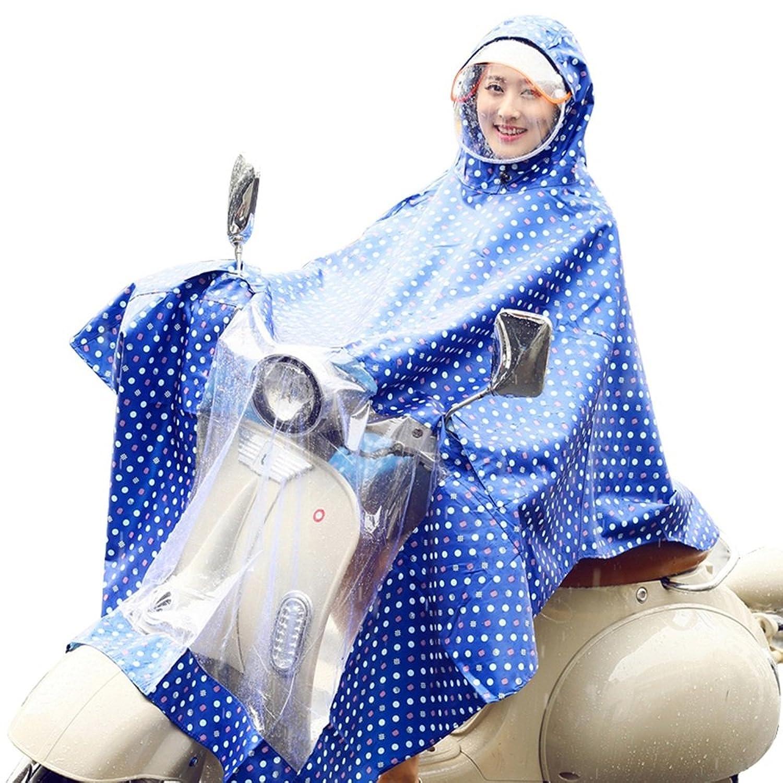 雨具 防水 女性用 通学 便利 青 防水 することができます 解体 デュアル 帽子 マスク 増加する レインコート