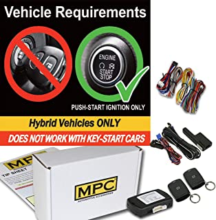 MPC Complete 1-Button Remote Start for 2008-2013 Toyota Highlander - Push-to-Start - Hybrid - T-Harness - Firmware Preloaded