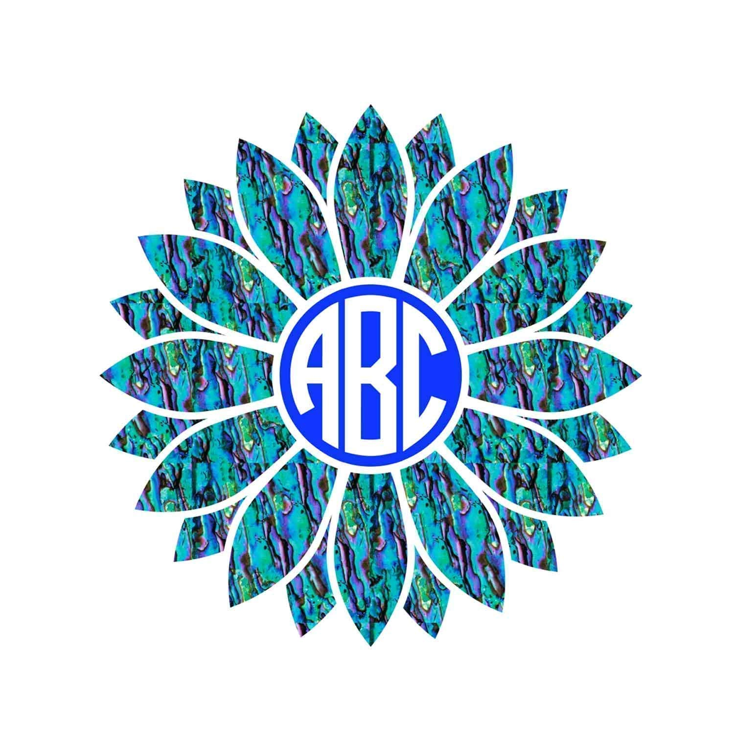 OFFicial site Personalized Sunflower Monogram Initials Yeti Decal Sticker Direct stock discount for