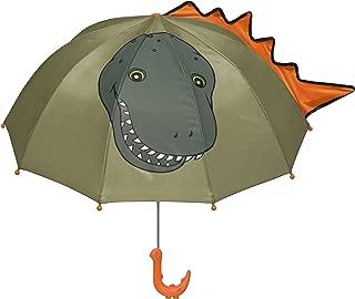 Kidorable Green Dinosaur Umbrella for Boys w/Fun Dino Handle, Pop-Out Spikes, Big Smile