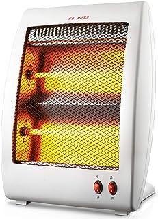 LTLJX Radiador Halógeno, 900W Calefactor Eléctrico Estufa de Cuarzo Calefacción Espacio Personal de Aire Caliente para Pequeño Dormitorio Oficina Hogar,Blanco