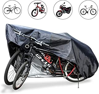 Bike Cover for 2 Bikes -BeyongGear Motorcycle Covers XL Bicycle Covers Rain Sun UV Dustproof & Snowproof with Lock Hole for Mountain Road Electric Bike