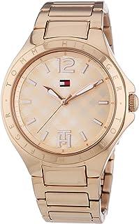ساعة افيرل بمينا روز ذهبي وسوار ستانلس ستيل للنساء من تومي هيلفيجر - 1781384