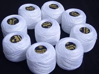 5 Blanc + 5 noires 10 boules ancre coton Perlé taille 8,85 mètres chacun