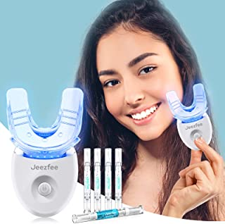 Teeth whitening kit with LED Light for Sensitive Teeth, Jeezfee Tooth Whitening System with 35% Carbamide Peroxide Teeth W...
