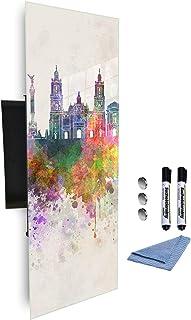 GlassArtist Coffre à clés 80 x 30 cm avec façade en Verre magnétique 371929153
