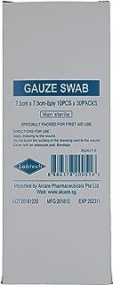 Labtech Gauze Swab For First Aid Box 8PLY x 7.5 CM x 7.5CM, 10 PCS x 30 PACKS, 300 count