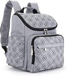 YuHan Oxford baby blöjväska blöjryggsäck blöja dyna byt dyna isoleringsväska passform barnvagn grå