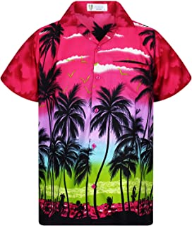 c39a1bb4dd King Kameha | Funky Chemise Hawaïenne | Hommes | XS - 12XL | Manche-Courte