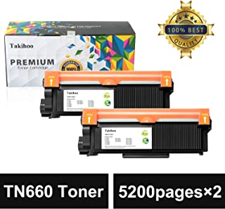 Takihoo Compatible Toner Cartridge Replacement for Brother TN660 TN630 used with Brother HL-L2340DW,HL-L2380DW,HL-L2300D, MFC-L2700DW, DCP-L2540DW, MFC-L2740DW, DCP-L2520DW, MFC-L2707DW(Black, 2-Pack)