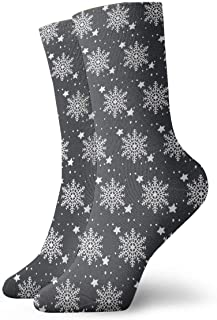 Luxury Calcetines de Deporte Christmas Snow Unisex Funny Art 3D Print Casual Crew Socks Athletic Crew Socks
