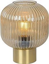 Lucide 45586/20/62 MALOTO - Tafellamp - diametro 20 cm - 1xE27, Amber, mat goud/messing
