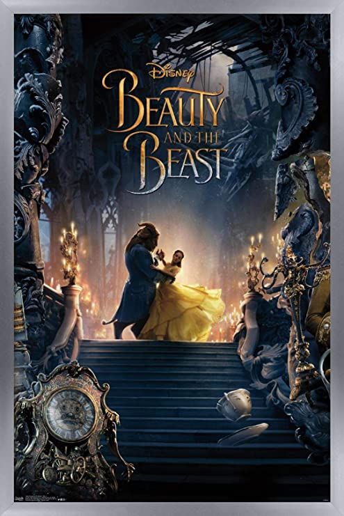 wall art print disney set of 3 Beauty and the beast poster inspirational