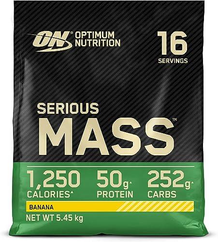Optimum Nutrition Serious Mass, Mass Gainer avec Whey, Proteines Musculation Prise de Masse avec Vitamines, Creatine ...