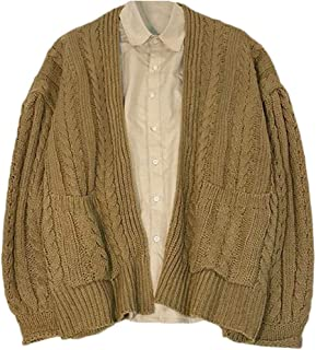f5b4852882b Pandapang Men s Casual Open Front Warm Cable Knitteed Cardigan Sweater