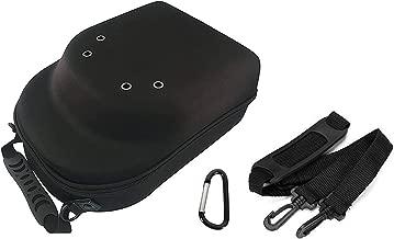 SimpleChoice Hat Carrier Case Portable Case for 6 Caps | Durable Snapback Hat Carrier | Baseball Caps Storage Case | Lightweight Travel Hat Case with Capacious Design | Black Color Version 2