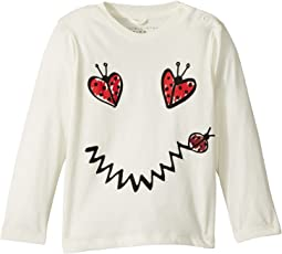 Georgie Ladybug Heart Smile Long Sleeve Tee (Infant)