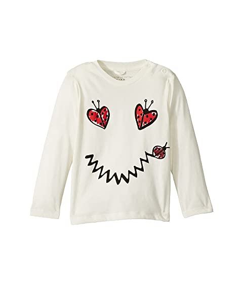 Stella McCartney Kids Georgie Ladybug Heart Smile Long Sleeve Tee (Infant)