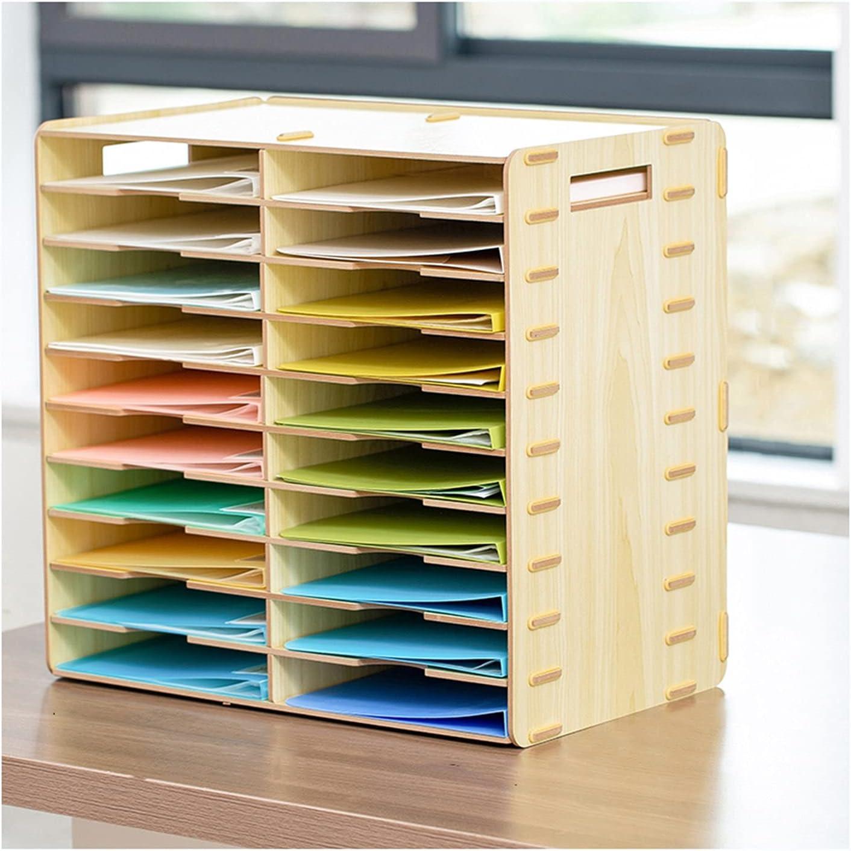 20 Slot Desk File Organizer with P Capacity Large Desktop Handle OFFer Seasonal Wrap Introduction