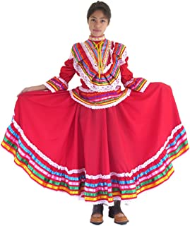Girls Mexican Jalisco Dress (Blouse and Skirt) Poplin