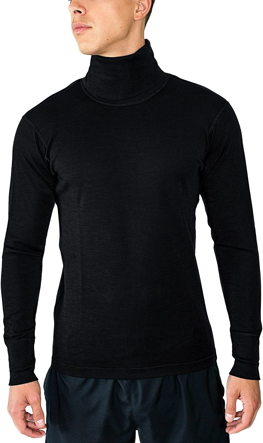 Woolx Prescott  Men's Merino Wool Turtleneck  Midweight Wool Base Layer Shirt
