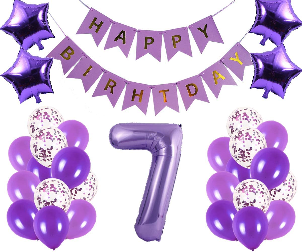 Birthday Party Balloons 6 Pink Purple 21st Birthday Balloons Twentyfirst Birthday Balloons Birthday Party Decorations Girls Birthday