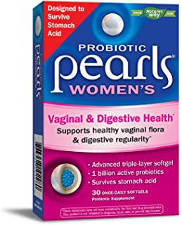 Enzymatic Therapy Probiotic Pearls Women's Yeast Balance Soft Gels, 30 Count (Packaging May Vary)