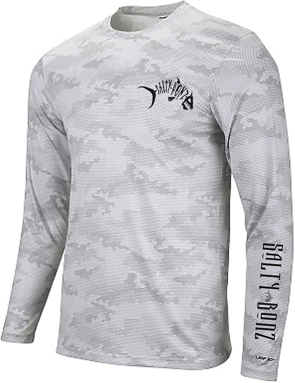 Salty Bonz Pompano shop Long Sleeve Shirt Japan Maker New Moisture Fishing T- Wicking