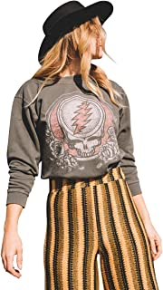 Womens Tops Grateful Dead Vintage Graphic Pullover Sweater Tee T Shirt