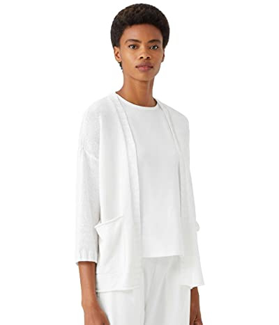 Eileen Fisher Petite 3/4 Sleeve Cardigan in Organic Linen Cotton