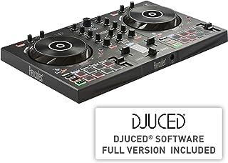 Hercules DJControl Inpulse 300 –Controlador DJ USB–2Pistas con 16Pads y Tarjeta de Sonido–Incluye Software y Tutoriales, Multicolor