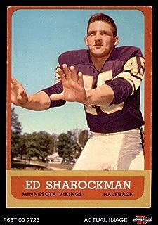 1963 Topps # 105 Ed Sharockman Minnesota Vikings (Football Card) Dean's Cards 4 - VG/EX Vikings
