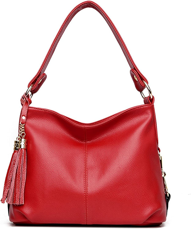 Kaichen PU Leather Hobo Handbag Top Handle Shoulder Bag Tote Bags with Tassel Crossbody Bag for Women