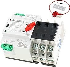GAEYAELE W2R-3P Din Rail Mounted Automatic Transfer Switch Three Phase ATS 100A Power Transfer Switch (W2R 3P 40A)