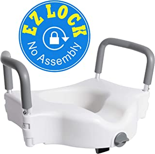 Vaunn Medical Elevated Raised Toilet Seat & Commode Booster Seat Riser with Removable..
